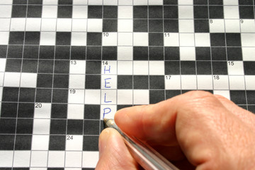 help written on a crossword