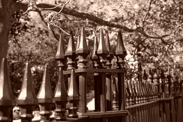 pointy wrought iron fence