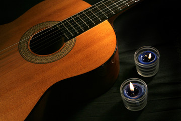 classical guitar & candles