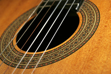 classical guitar (close-up)