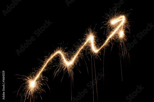 graph arrow sparkler