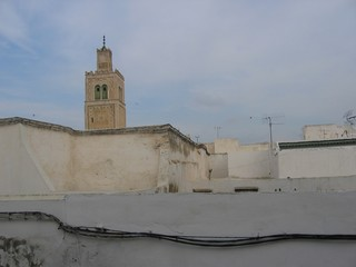 terrazas y minarete