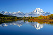 canvas print picture fall at oxbow bend