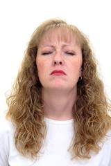depressed caucasian woman
