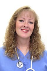 nurse wearing scrubs