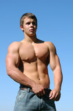 young muscular athlete poster