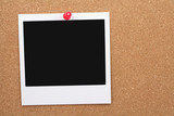 corkboard and blank photo