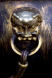 chinese brass handle poster