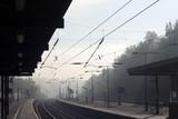misty railway poster