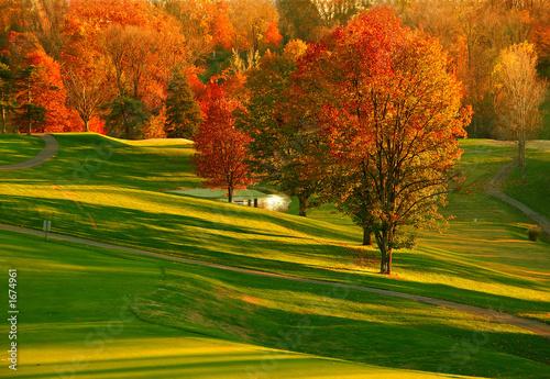 Zachód słońca na polu golfowym 2
