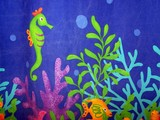 seahorse fabric poster