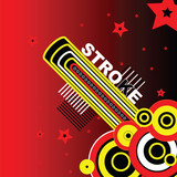 red stroke poster