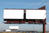 blank billboards with blue sky-add your text poster