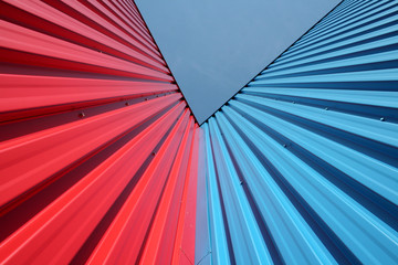 blue and red walls