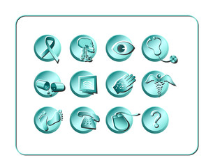 medical & pharmacy icon set - light 2