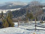 winter mount landscape poster