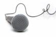 Leinwanddruck Bild - microphone connected