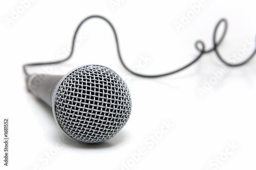 Leinwanddruck Bild microphone connected