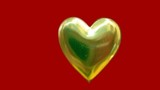 golden heart. love. romance poster