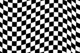 wavy checkered pattern poster