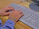 keyboard typing poster