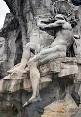 the silver river - fontana dei quattro fiumi