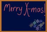 merry christmasl (blackboard) poster