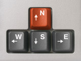 compass (arrows keys on keyboard) poster