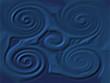 spiralen in blue