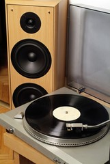 gramophone and black vinyl 2
