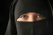 mulsim woman wearing veil