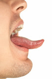 showing tongue poster