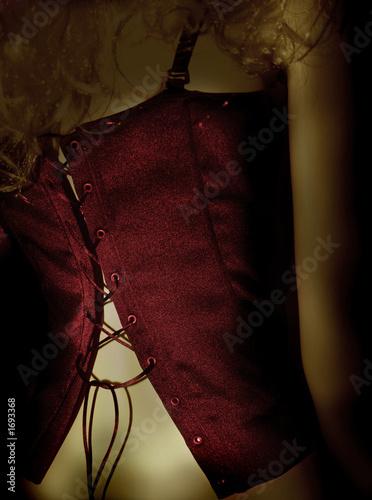 Leinwandbild Motiv rote corsage