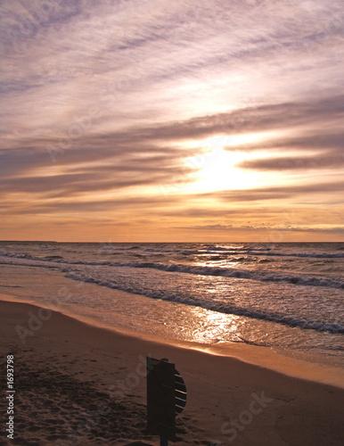 Leinwanddruck Bild sea sunset