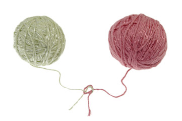 two balls of wool