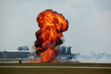 explosion at airport poster