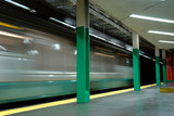 greenline train in motion