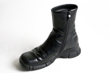 black boot, isolated