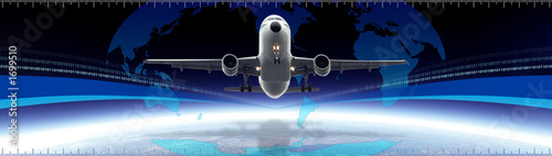 poster of business and travel banner (header)