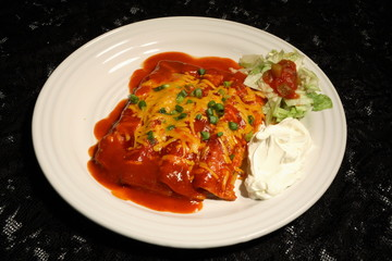 enchiladas and sour cream