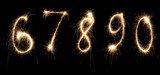 anniversary numbers sparkler 2