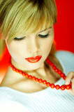 red beads poster