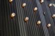 bulbs on store facade
