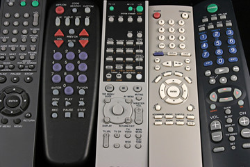 five remote controls