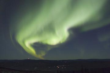 active aurora borealis arc