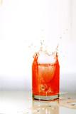 juice splashing poster