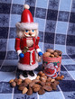 santa nutcracker with mixed nuts