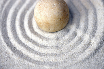 centered zen pebble