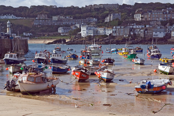 boats at low-tide