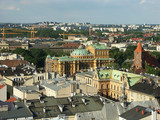 panorama of old town krakow poster
